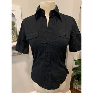 Short-sleeve New York & Company Button Up